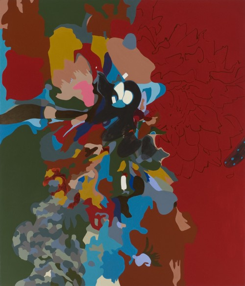 """DaDaDahlia,"" 2005-08. Acrylic on canvas. 6ft x 7ft. Courtesy of the artist and Hyde Park Art Center."